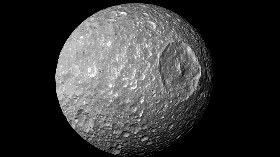 Saturn's-moon-Mimas