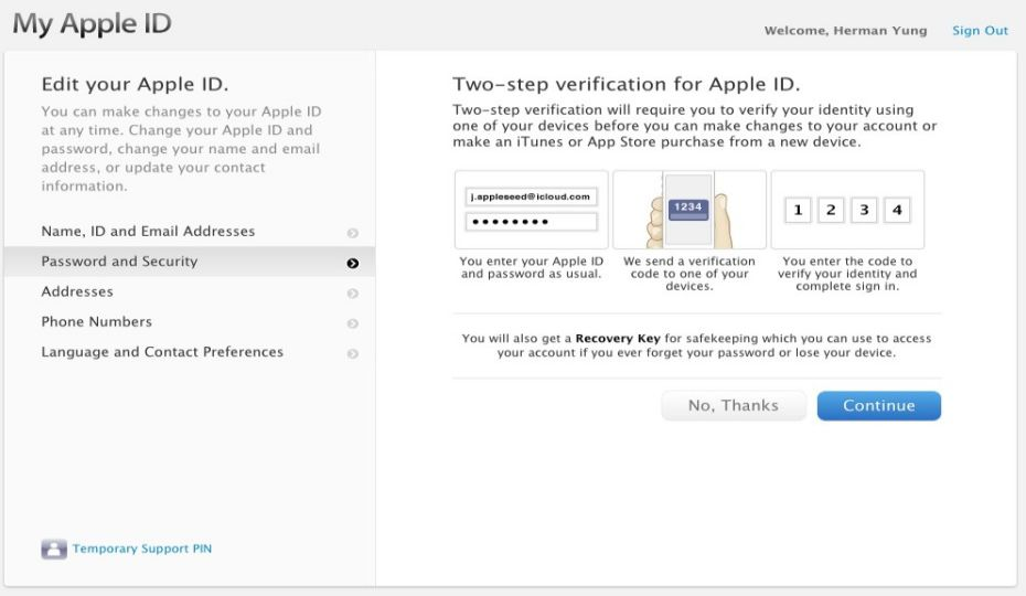 Apple Two Step Verification