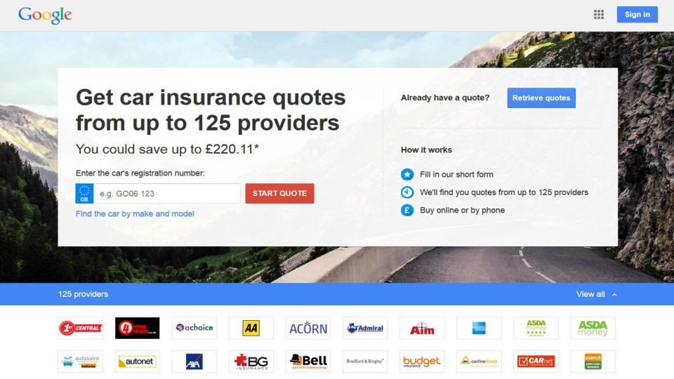 Google Insurance Quote