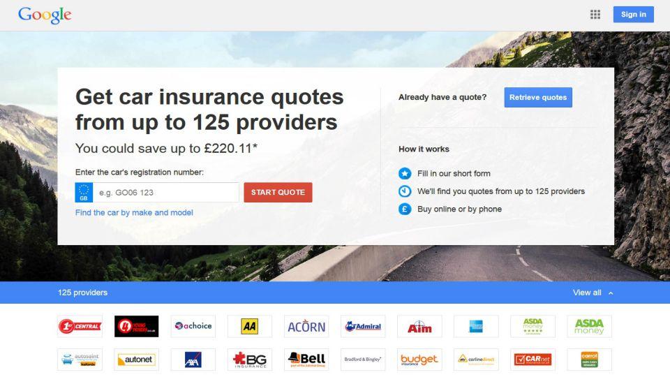 Google Insurance Quote