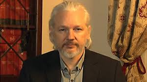 Julian Assange - still holed up in the Ecuadorean embassy in London