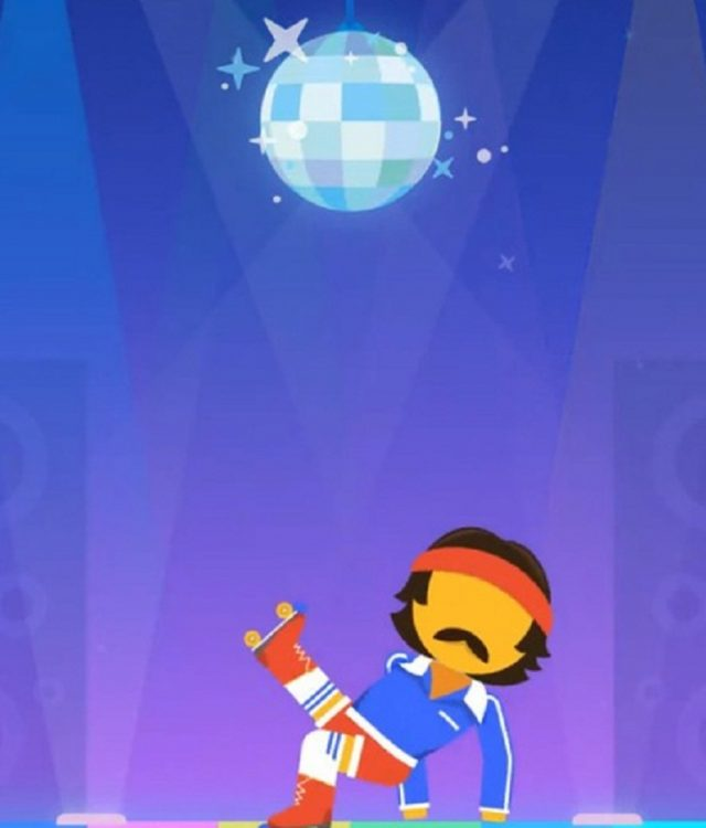 funky disco dancing party