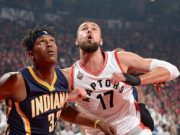 Watch Paul George's 360 dunk against Raptors
