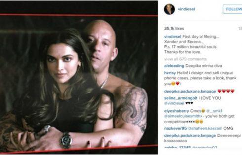 Deepika Padukones and Vin Diesel