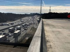 GA-316 Highway Construction - Concrete Bridge Overpass