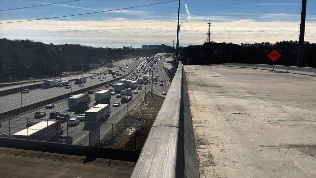 GA-316 Highway Construction - Concrete Bridge Overpass